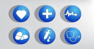 Icono de la medicina y de Heath Care del vector Imagen de archivo libre de regalías