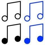 Icono de la melodía del esquema stock de ilustración