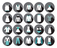 Icono de la moda de la ropa de los grandes almacenes. Foto de archivo