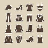 Icono de la moda de las señoras Fotos de archivo