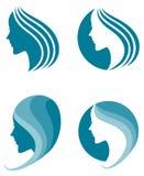 Icono de la moda. símbolo de la belleza femenina ilustración del vector