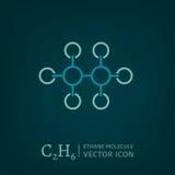 Icono de la molécula del etano Foto de archivo