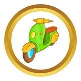Icono de la moto de la vespa stock de ilustración