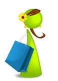 Icono de la muchacha de compras Fotografía de archivo libre de regalías