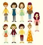 Icono de la muchacha de la historieta Imagen de archivo libre de regalías