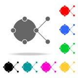 icono de la muestra de la conexión Elementos en los iconos coloreados multi para los apps móviles del concepto y del web Iconos p stock de ilustración