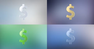 Icono de la muestra de dólar 3d Fotos de archivo libres de regalías