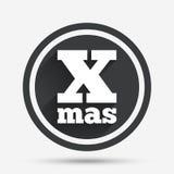 Icono de la muestra de la Feliz Año Nuevo Símbolo de Navidad Fotos de archivo