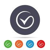 Icono de la muestra de la señal Compruebe a Mark Symbol Fotos de archivo libres de regalías