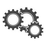 Icono de la muestra de los engranajes Fotografía de archivo