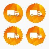 Icono de la muestra del camión de reparto Cargo van symbol Imagen de archivo