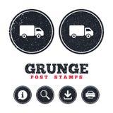Icono de la muestra del camión de reparto Cargo van symbol Fotos de archivo libres de regalías