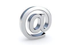 Icono de la muestra del correo electrónico en el blanco. Imagen de archivo libre de regalías