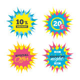 icono de la muestra del descuento del 10 por ciento Símbolo de la venta Fotografía de archivo libre de regalías