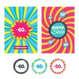 icono de la muestra del descuento del 40 por ciento Símbolo de la venta libre illustration