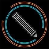 Icono de la muestra del lápiz - corrija el contenido del sitio stock de ilustración