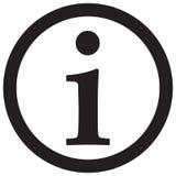 Icono de la muestra de la información, icono de la información Stock de ilustración
