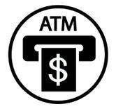 Icono de la muestra de la ranura de la atmósfera de la tarjeta de crédito stock de ilustración