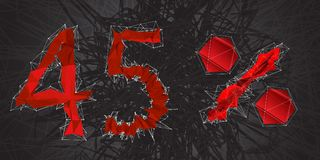 icono de la muestra de la venta del 45% Símbolo del descuento Venta de Black Friday, estación d Fotografía de archivo libre de regalías