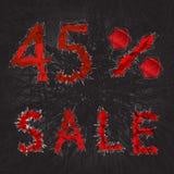 icono de la muestra de la venta del 45% Símbolo del descuento Venta de Black Friday, estación d Imagen de archivo libre de regalías