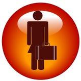 Icono de la mujer de negocios Fotografía de archivo libre de regalías