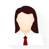 Icono de la mujer en el vector blanco del fondo Imagen de archivo libre de regalías