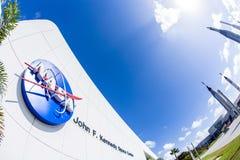 Icono de la NASA en la entrada Fotografía de archivo libre de regalías