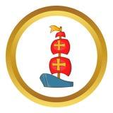 Icono de la nave de Columbus stock de ilustración