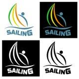 Icono de la navegación para las competencias de deportes y los clubs del agua Vector la enfermedad Imagenes de archivo