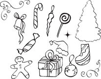 Icono de la Navidad Foto de archivo libre de regalías