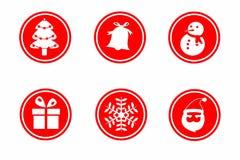 Icono de la Navidad Fotografía de archivo libre de regalías