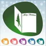 Icono de la Navidad Fotografía de archivo