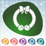 Icono de la Navidad Fotos de archivo
