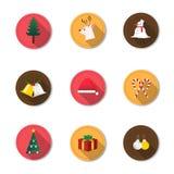 Icono de la Navidad Imágenes de archivo libres de regalías