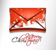 Icono de la Navidad del correo electrónico Foto de archivo libre de regalías