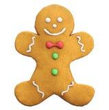 Icono de la Navidad del hombre de pan de jengibre Fotos de archivo libres de regalías