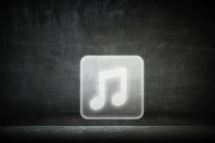 Icono de la nota de la música Técnicas mixtas Foto de archivo libre de regalías