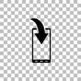 Icono de la notificaci?n de la transferencia directa del tel?fono completamente libre illustration