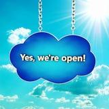 Icono de la nube Fotografía de archivo libre de regalías