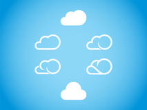 Icono de la nube Fotos de archivo libres de regalías