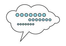 Icono de la nube del diálogo stock de ilustración