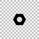 Icono de la nuez de hex. completamente ilustración del vector