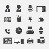 Icono de la oficina Imagenes de archivo