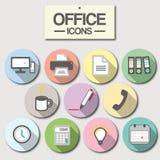 Icono de la oficina para el uso del negocio Imagen de archivo libre de regalías
