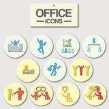 Icono de la oficina para el uso del negocio Fotografía de archivo