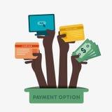 Icono de la opción del pago Foto de archivo libre de regalías