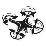 Icono de la opinión superior del abejón, estilo simple stock de ilustración