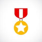 Icono de la orden del oro del premio ilustración del vector