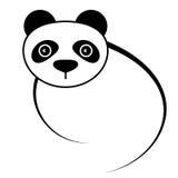 Icono de la panda Imágenes de archivo libres de regalías