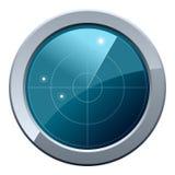 Icono de la pantalla de radar Foto de archivo